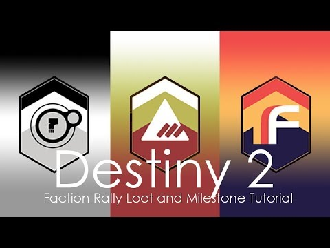 How To Complete The Faction Rally Milestone! DESTINY 2 New Faction Rally Update!