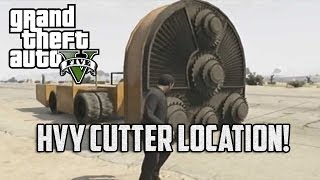 Grand Theft Auto V - HVY CUTTER LOCATION/GAMEPLAY!