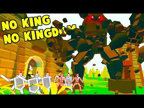 WE TOOK CONTROL OF A GIANT ROCK GOLEM! Boss vs Kingdom Fight - No King No Kingdom Gameplay Part 2
