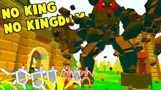 WE TOOK CONTROL OF A GIANT ROCK GOLEM! Boss vs Kingdom Fight - No King No Kingdom Gameplay Part 2