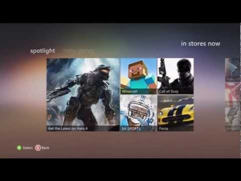 Xbox 360 Dashboard Update 2012 Tour