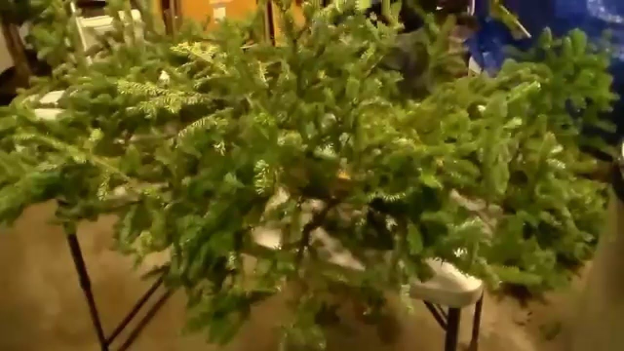 how to make a christmas grave blanket using a real tree