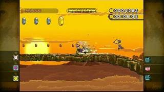 Wario Land: Shake It! Nintendo Wii Gameplay - Pole Vaulting