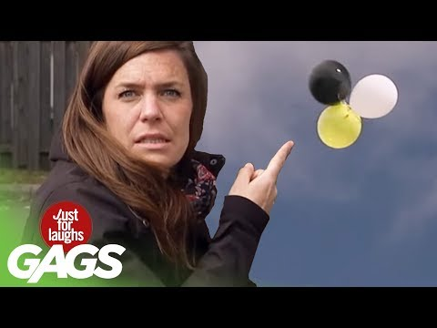 Letting Go of Balloons Prank! - Just For Laughs Gags