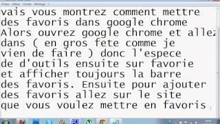 Comment mettre et enlevez des favoris sur Google Chrome