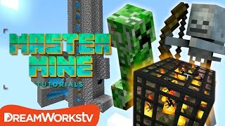 How to Build a Mob Grinder in Minecraft with Fin & Sky | MASTER MINE TUTORIALS