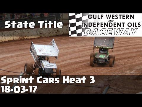 Sprint Cars State Title Heat 3 - Latrobe Speedway 18-03-17