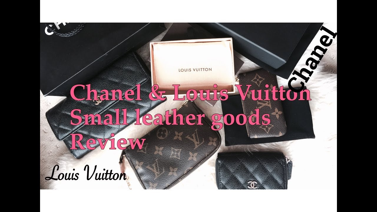 c863ceea378f Chanel Vs Louis Vuitton Small Leather Goods Review - YouTube