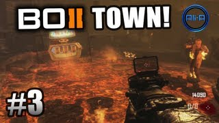 "Black Ops 2 ZOMBIES GAMEPLAY - ""TOWN"" Survival Live w/ Ali-A - Part 3 - Call of Duty BO2"