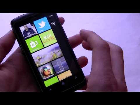 English: HTC 7 Trophy video preview