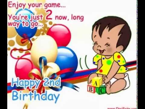 2nd birthday cards youtube
