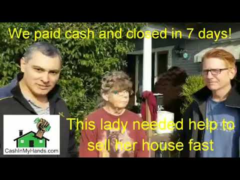 We Purchased this Lady's House with Cash in 7 days.