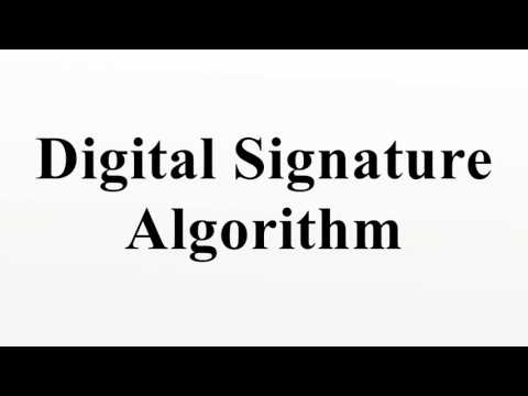 Digital Signature Algorithm