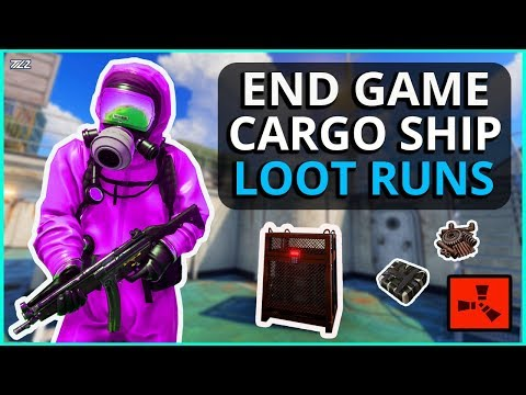 LUCKY RUST CARGO SHIP LOOT RUN FOR THE BEST END GAME LOOT!! - RUST (Part 5)