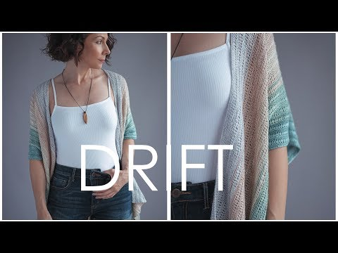 Drift Cardi Pattern - How To Drop Stitches For Beginners - It's Easier Than You Think!