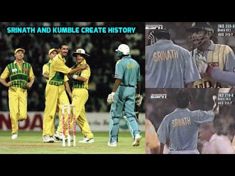 India 164-8, 52 Runs to Win and then Srinath and Kumble Create History With the Bat | SIMPLY EPIC!!