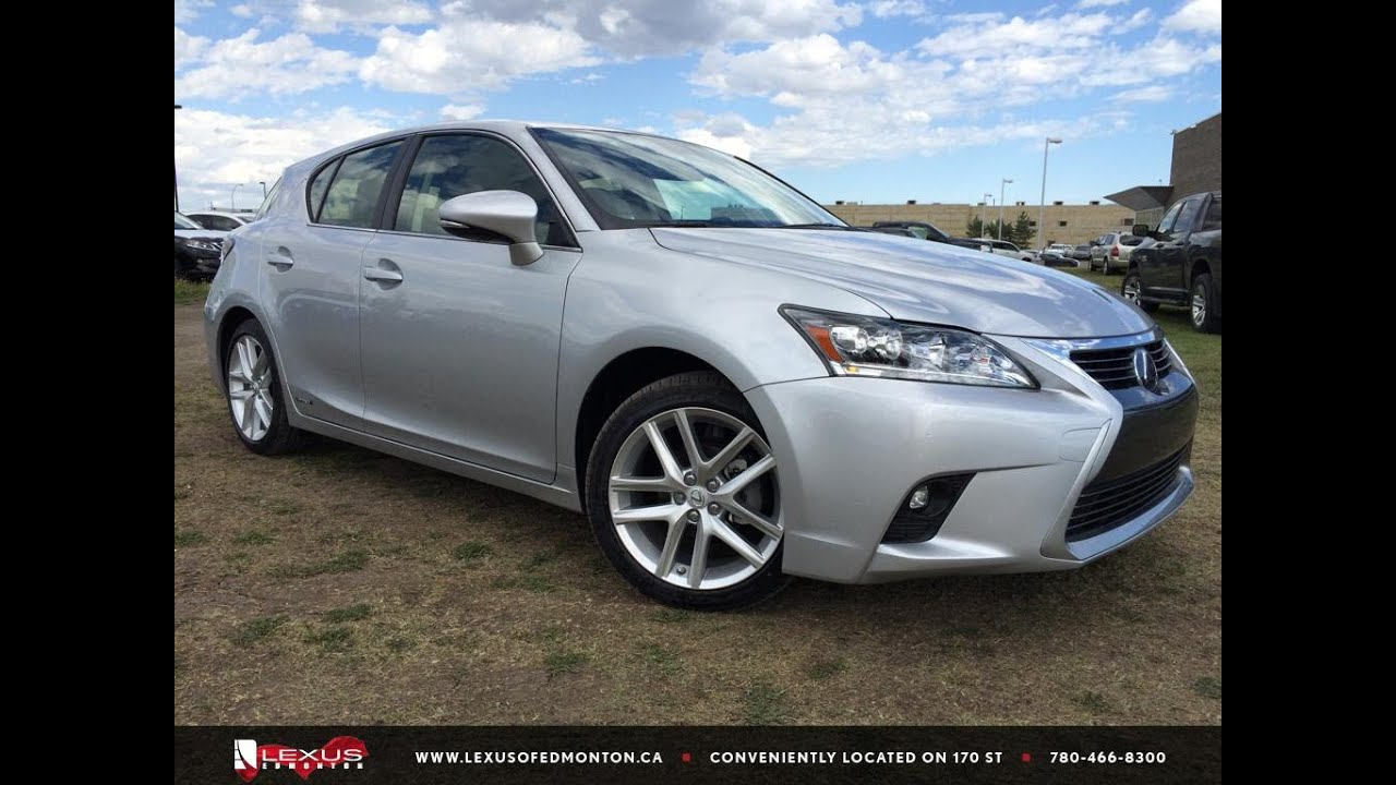 new silver 2015 lexus ct 200h fwd hybrid touring package in depth review downtown edmonton. Black Bedroom Furniture Sets. Home Design Ideas