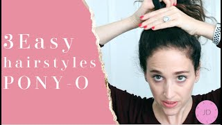 3 EASY HAIRSTYLES WITH GAME-CHANGING ELASTIC| PONY-O TUTORIAL