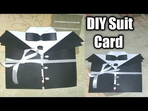 DIY /Suit Jacket /Tuxedo Birthday Card /How to make Father's day card /Valentine day  /tutorial # 20