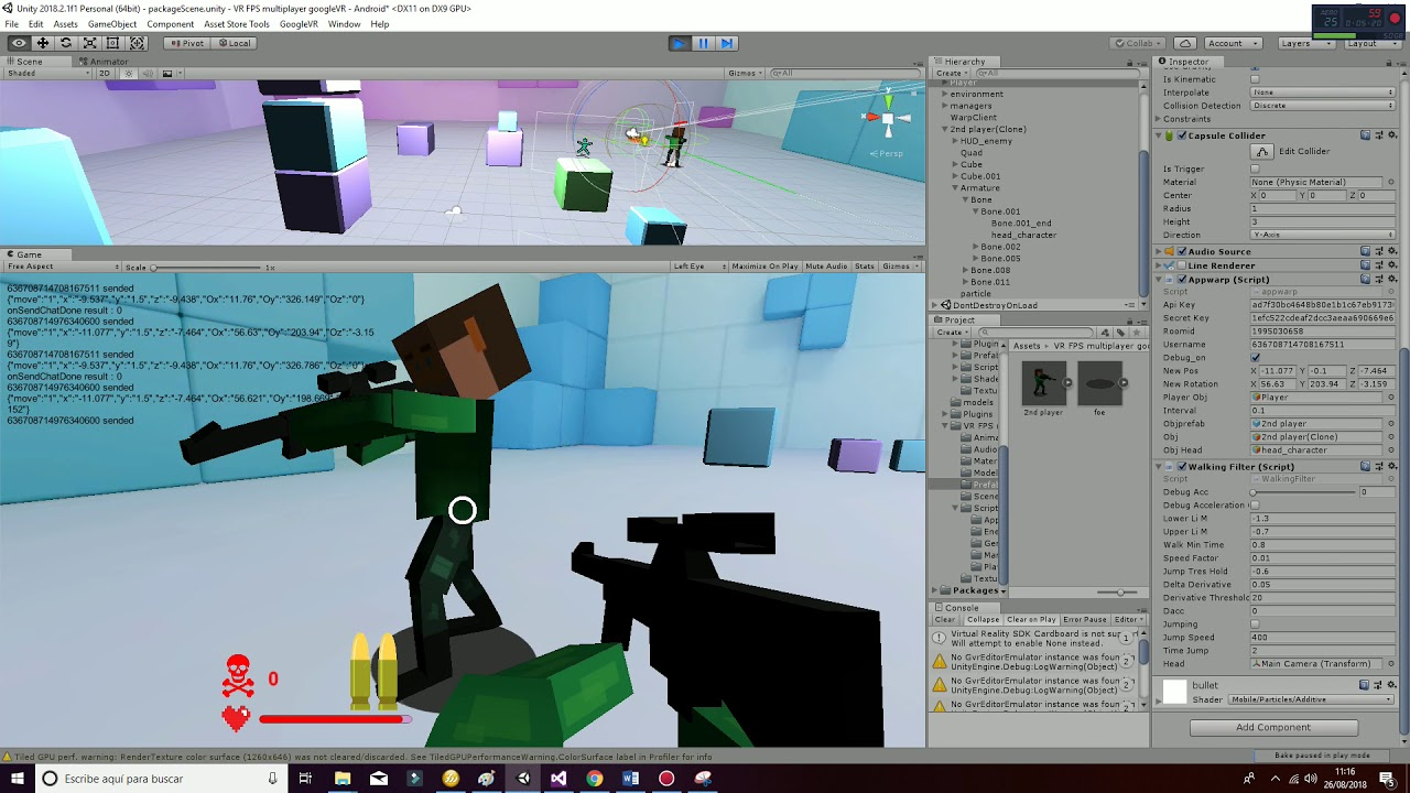 Tutorial VR multiplayer unity3D asset store