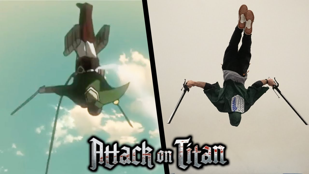 Stunts From Attack On Titan In Real Life (Shingeki no Kyojin)