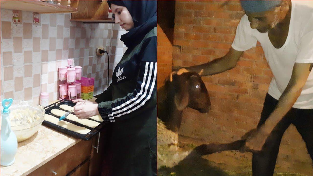 اجواء يوم عرفة وليلة العيد🎉فطرنا عند عجوزتي/عاداتنا ليلة العيد شاركتها مع أهل زوجي
