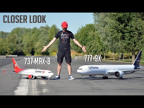 Closer look at the Boeing 777-9X RC airliner, running more tests, NO FLYING!!