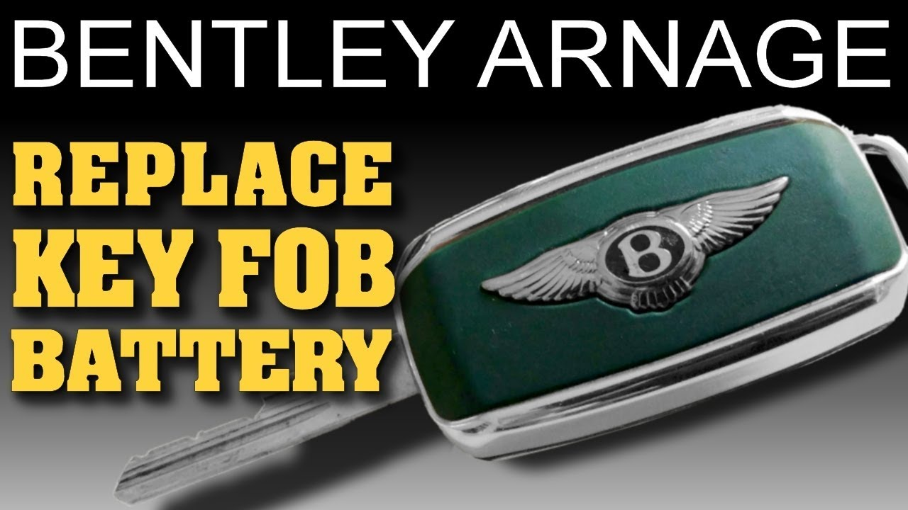 how to replace key fob battery bentley arnage youtube. Black Bedroom Furniture Sets. Home Design Ideas
