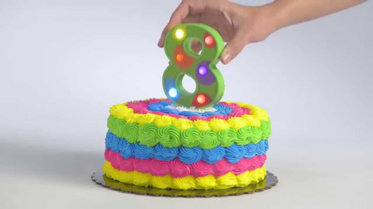 Flashing Number 8 Cake Decoration