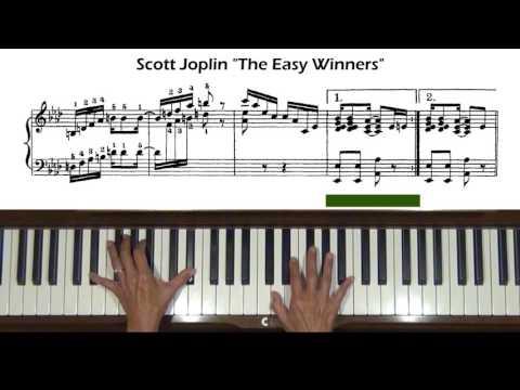 Scott Joplin The Easy Winners Piano Tutorial