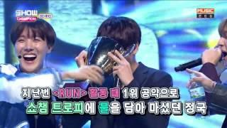 161025 BTS Show Champion Behind Eng Sub 쇼챔비하인드