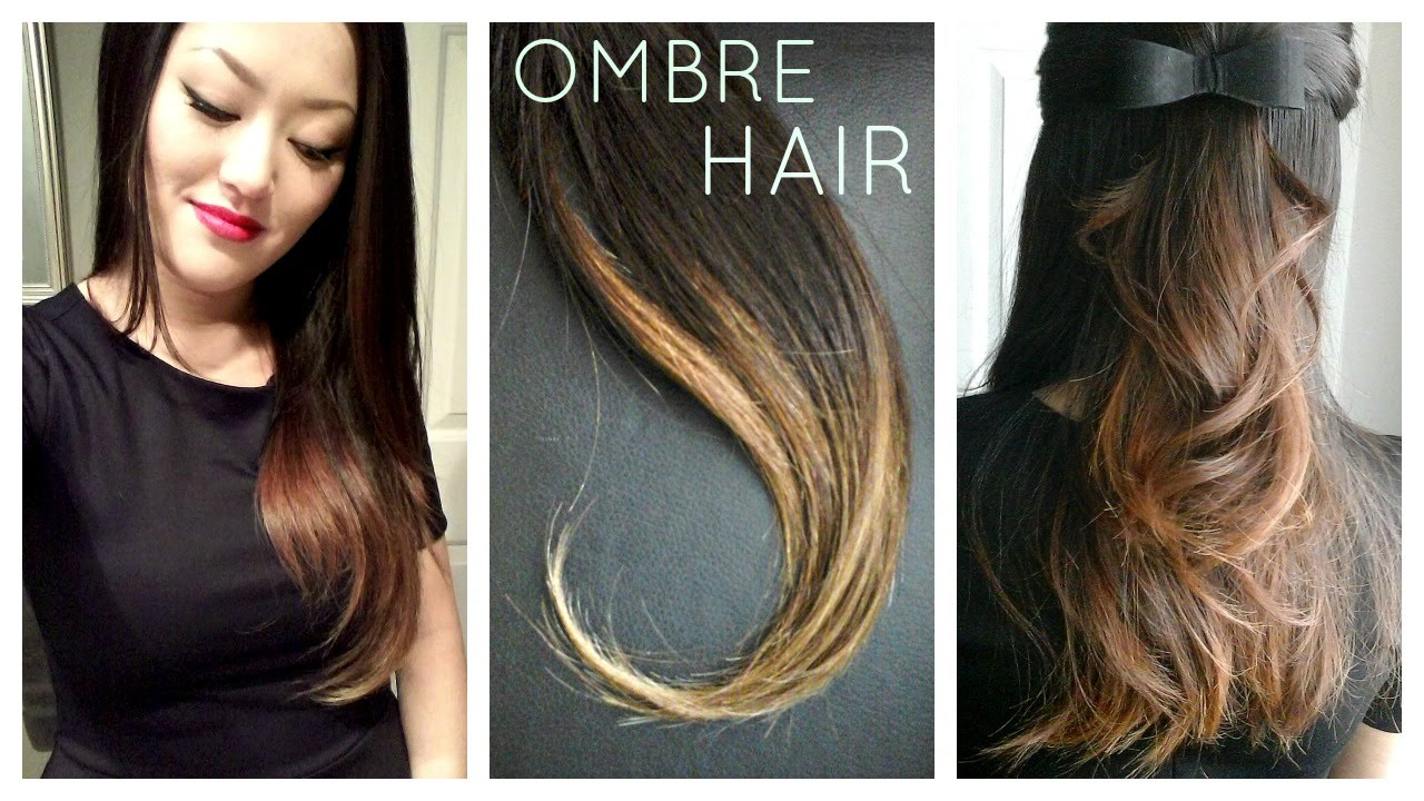 Diy Ombre Balayage Hair At Home Using Box Dye Youtube