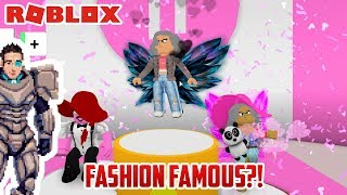 Roblox: FASHION FAMOUS! Playing Games With Our Cousins!