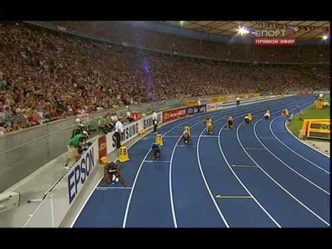 Usain Bolt 200 m New World Record 19,19