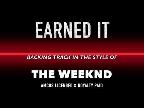 Earned It (in the style of) The Weeknd MIDI MP3 Backing Track