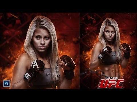 How To Design UFC Poster In Photoshop (I'm Back)