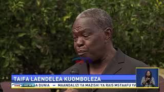 Rais Magufuli ajumuika na waombolezaji nyumbani kwa Mzee Mkapa