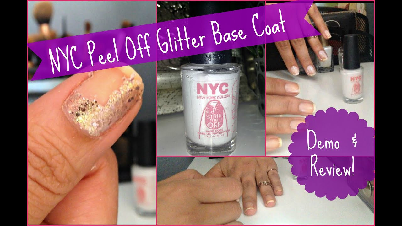 NYC Strip Me Off: Peel Off Glitter Base Coat Review & Demo ...