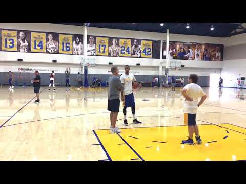 View from Golden State Warriors Practice Training Camp Day 4