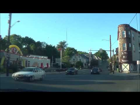 Driving around Downtown Bethlehem, PA May 2017