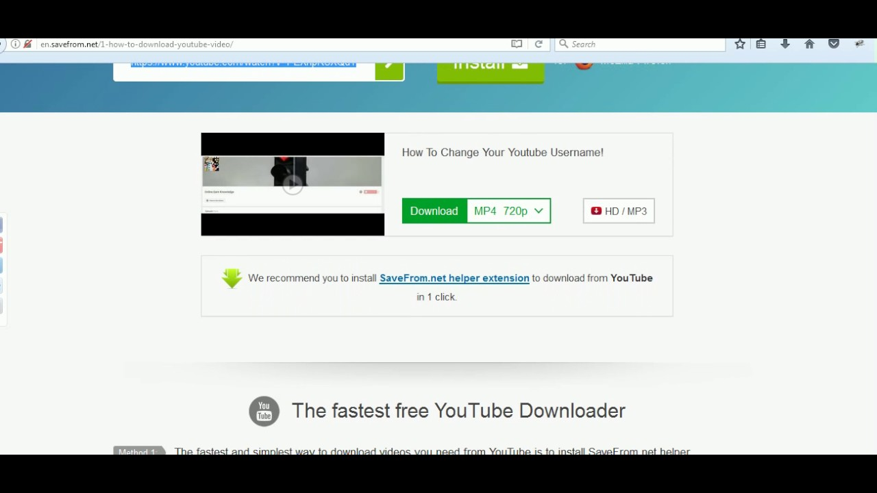 install youtube on my laptop