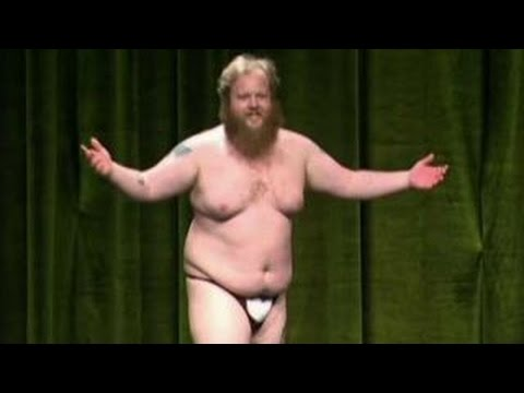 Libertarian chair candidate strips at party