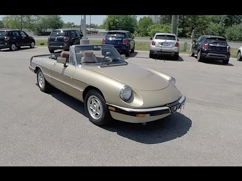 1986 Alfa Romeo Spider Veloce Series Iiiwalkaround Video