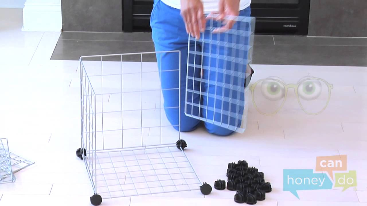 Honey Can Do SHF 01794, SHF 02113 And SHF 03521 6 Pack Modular Mesh Storage  Cube Instruction Video   YouTube