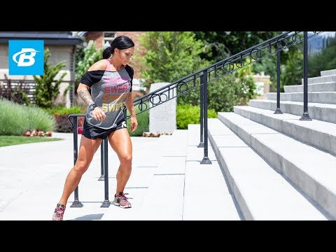 Ashley Horner's Sucking-Wind Stair Workout! | Outdoor Workout