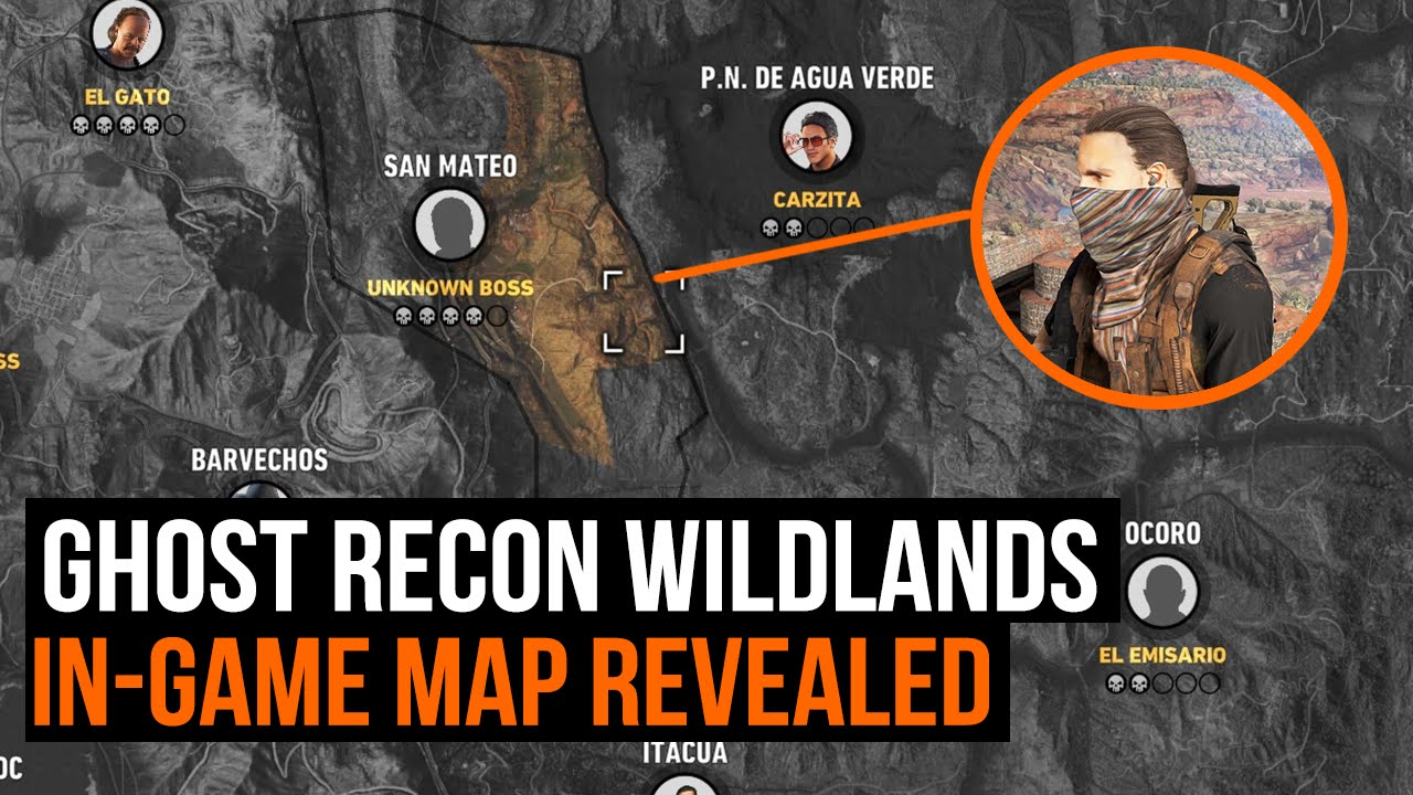 Ghost Recon Wildlands Karte.Ghost Recon Wildlands How Big Is The Map In Game Map Revealed