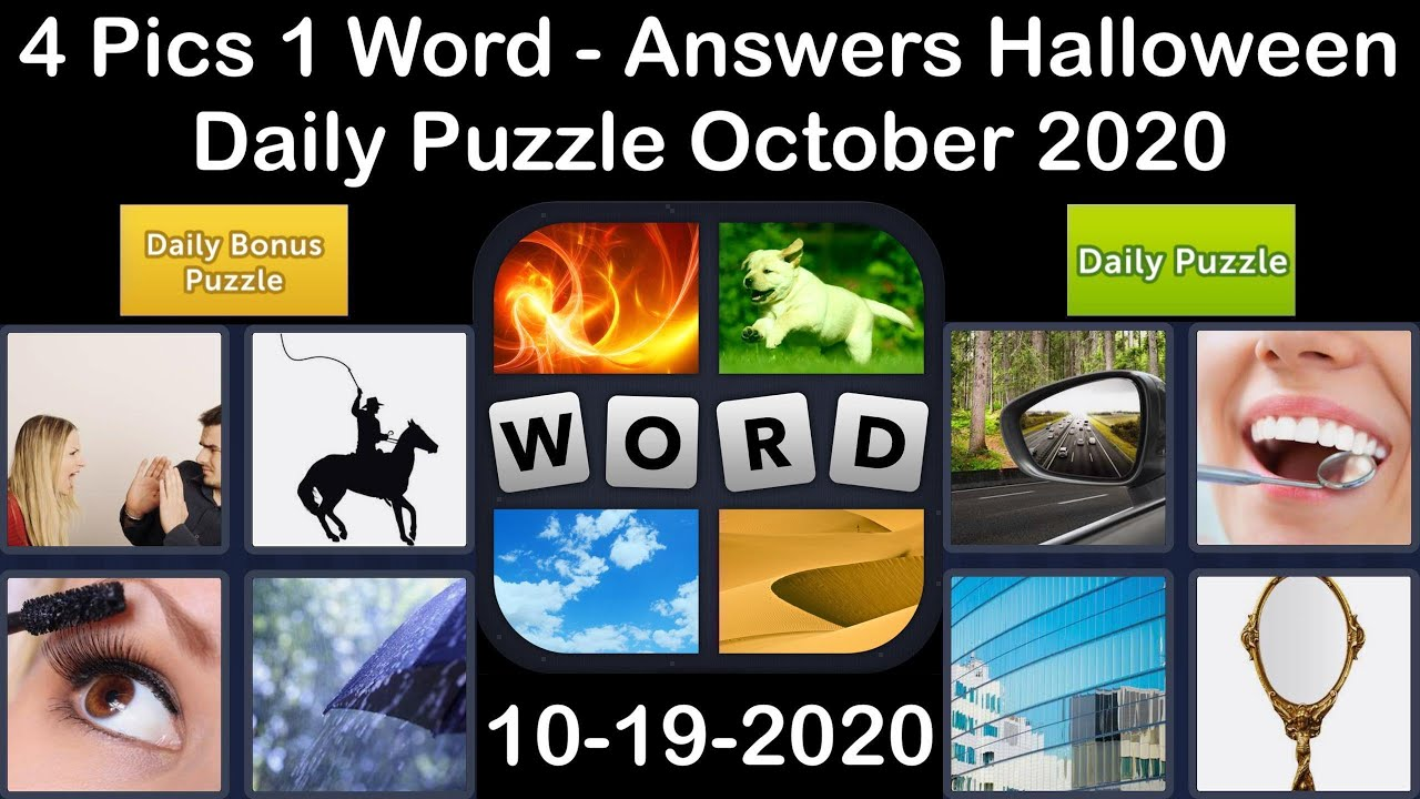 4 Pics 1 Word - Halloween - 19 October 2020 - Daily Puzzle + Daily Bonus Puzzle - Answer-Walkthrough