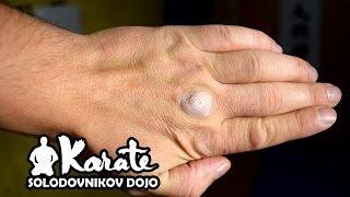 Железная рука / Набивка рук на макиваре кекусинкай карате / Gasket hands on the makiwara kyokushin