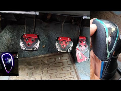 Racing Pedals and Glowing gear knob installation!!!