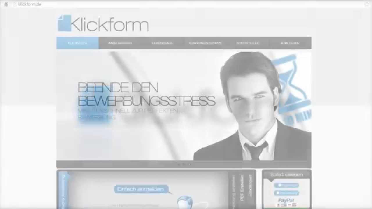 Klickform - Anschreiben & Lebenslauf online erstellen (ohne Muster ...